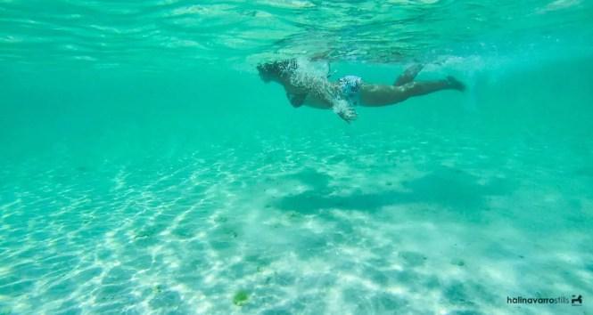 Swimming in Carabao Island, Romblon
