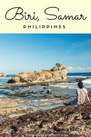 Visiting Biri, Samar, to see rock formations and natural lagoons