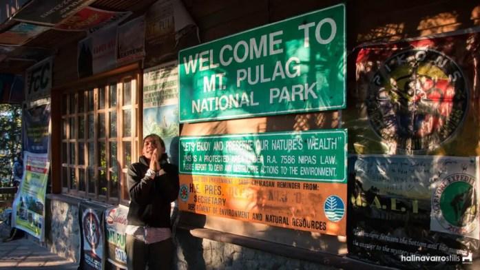 Mount Pulag signage