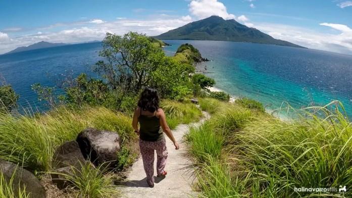 Stairs to viewdeck of Sambawan Island