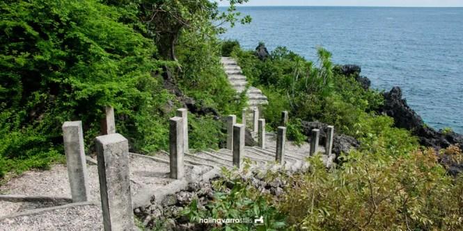 Stairs in Target Island, Bulalacao