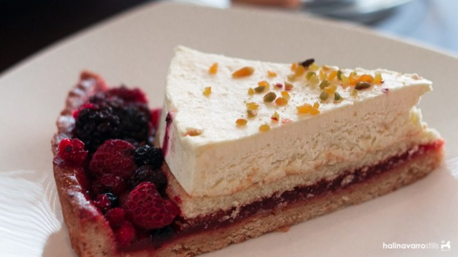 Francesco's Kitchen mascarpone and berries tart
