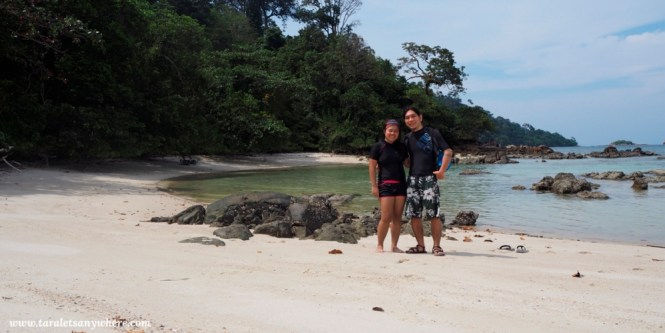 Couple shot in Koh Lipe, Thailand