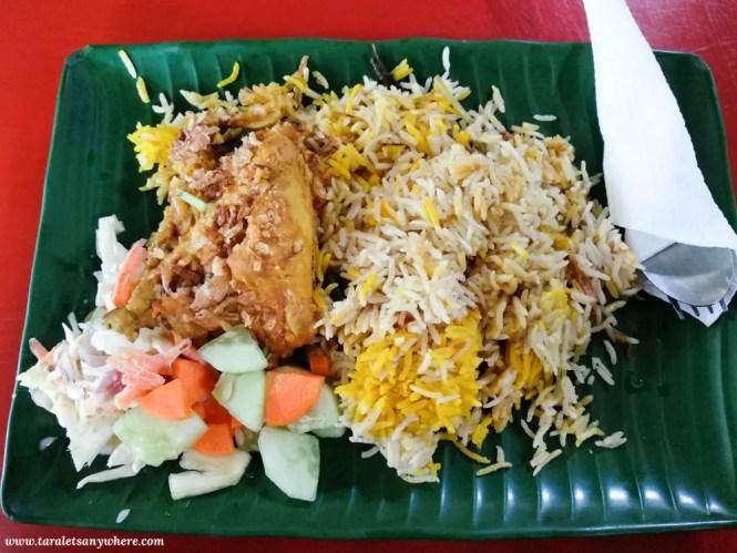 Nasi briyani ayam (chicken)