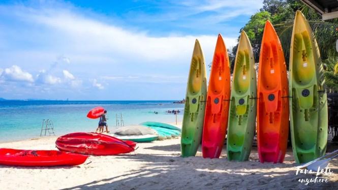 Kayak boards in Kapas Island, Malaysia