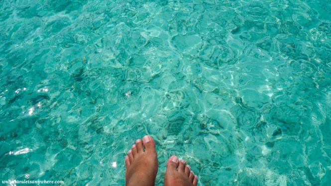 Clear water in Maldives