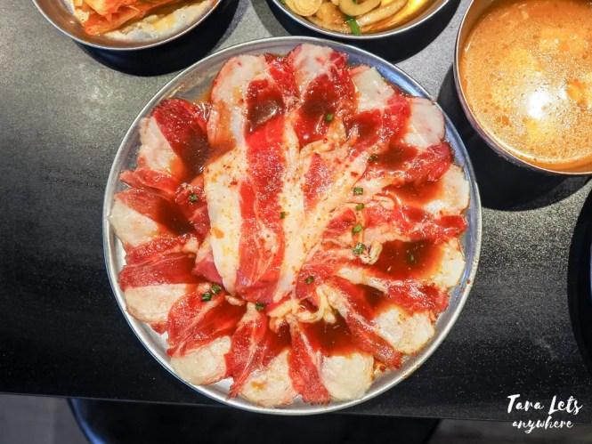 Samgyupsalamat menu - yangnyum beef samgyupsal