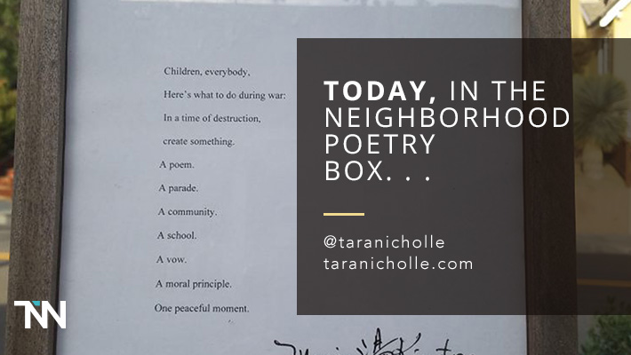 Today, in the Neighborhood Poetry Box. . . [30 Day Writing Challenge, Day 25]