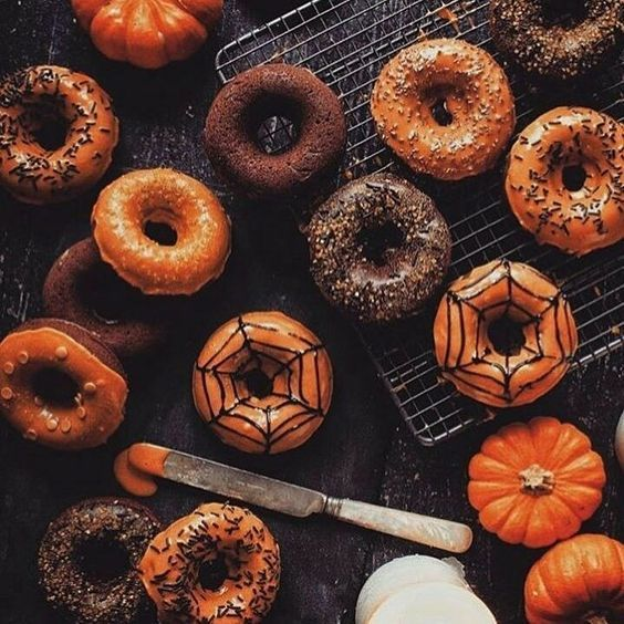 Halloween decoration donuts