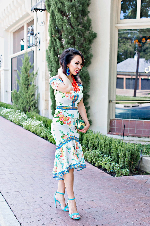 ruffle hem catalina dress madison beau boutique