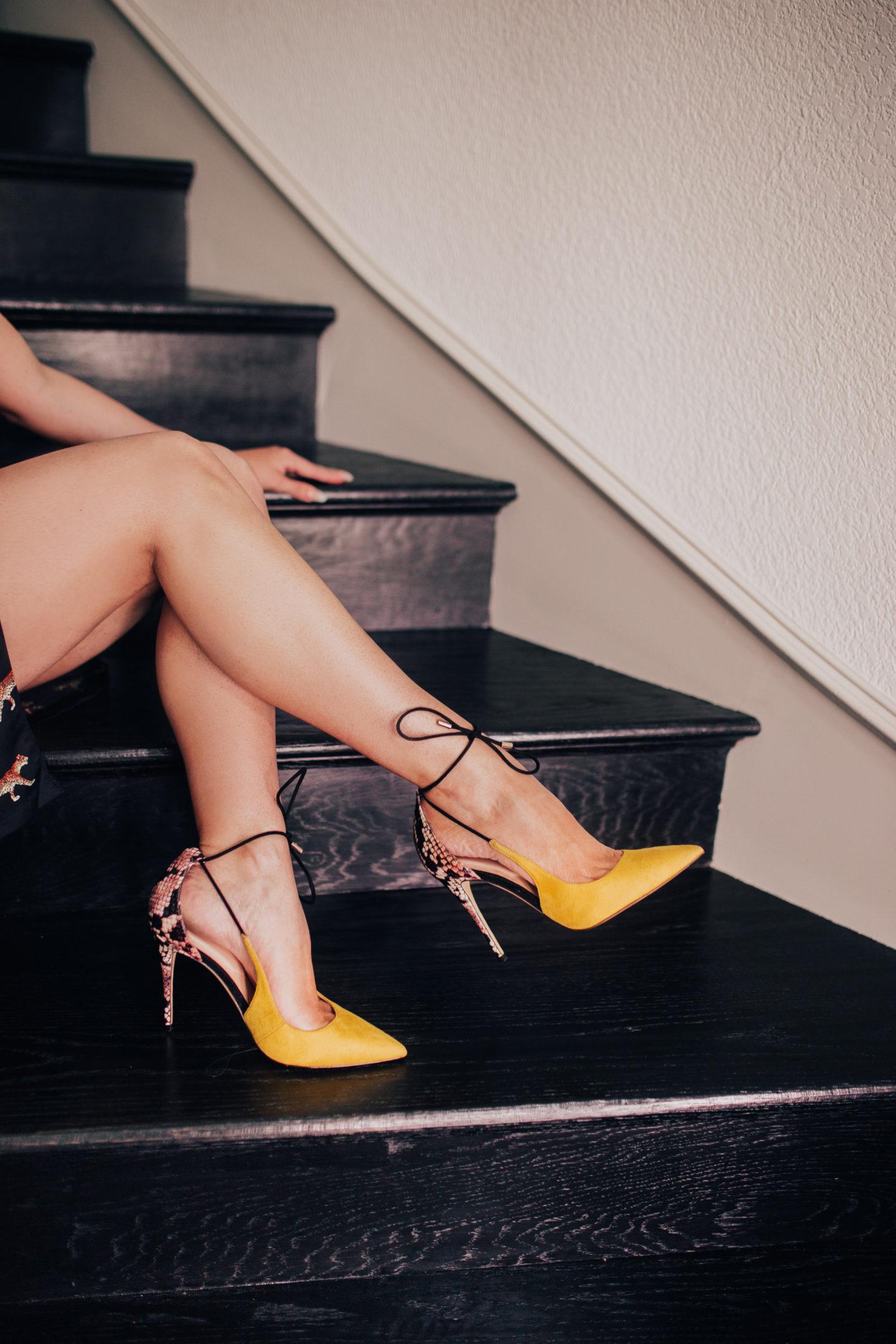 aldo yellow shoe