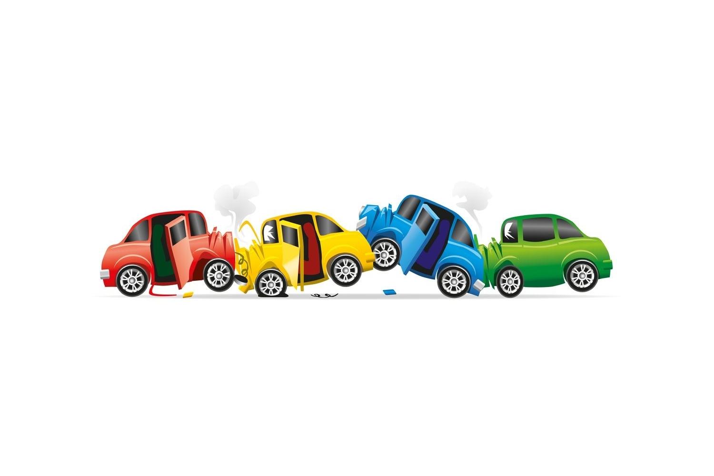 Incidente con più veicoli