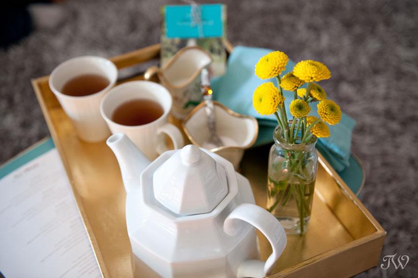 tea tray from consultation with Tara Whittaker Photography