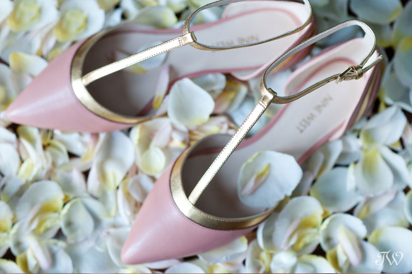 pink wedding shoes tara whittaker photography