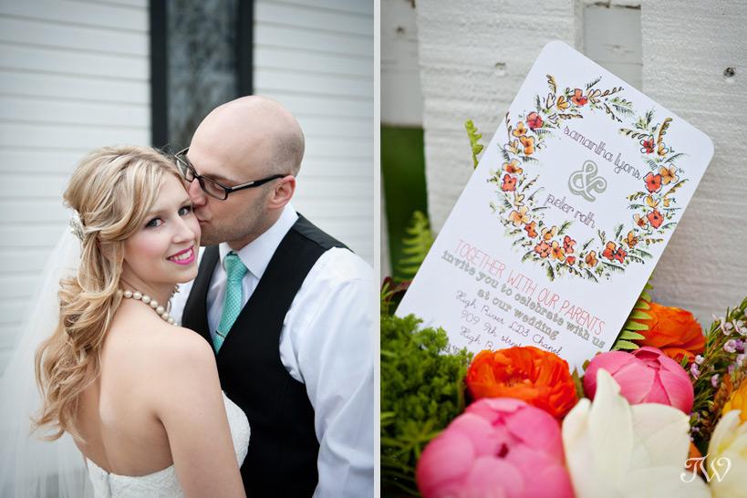 groom kisses bride on the cheek Tara Whittaker Photography