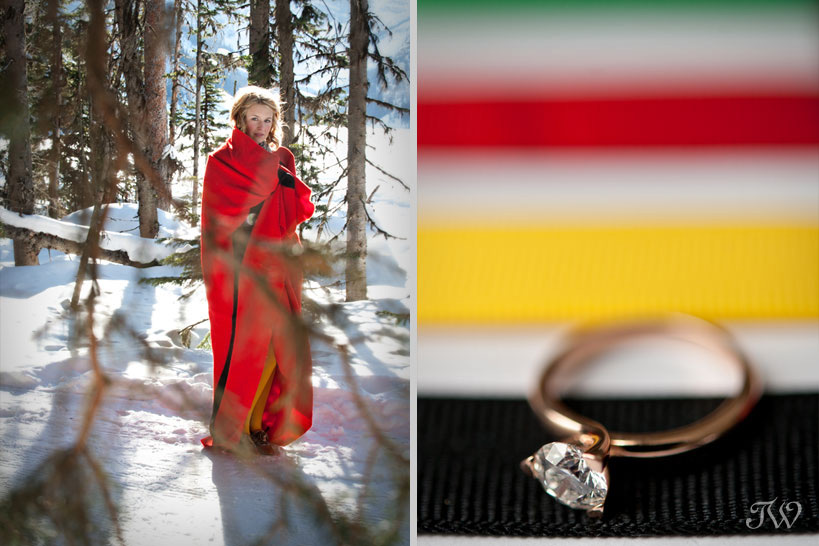 Engagement ring captured by Calgary wedding photographer Tara Whittaker