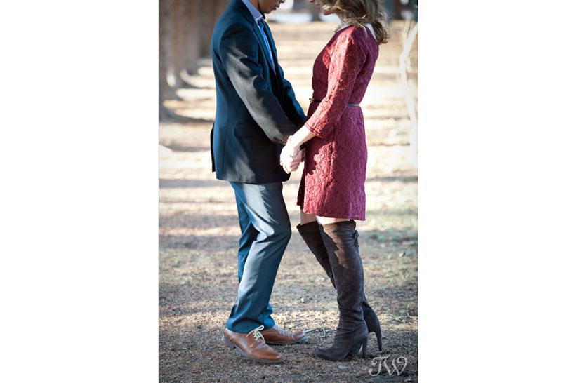 unique engagement photos in Calgary captured by Tara Whittaker Photography