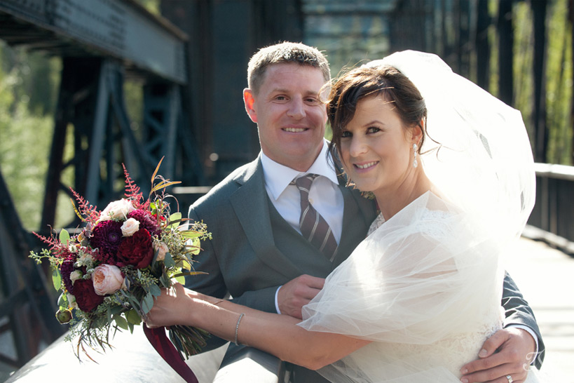 bride and groom after their Quarry Lake wedding captured by Tara Whittaker