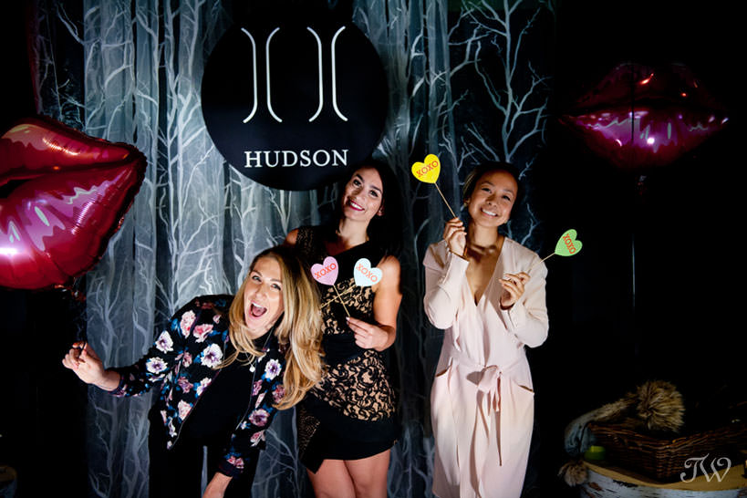 Photo booth at Hudson opening night captured by Tara Whittaker Photography