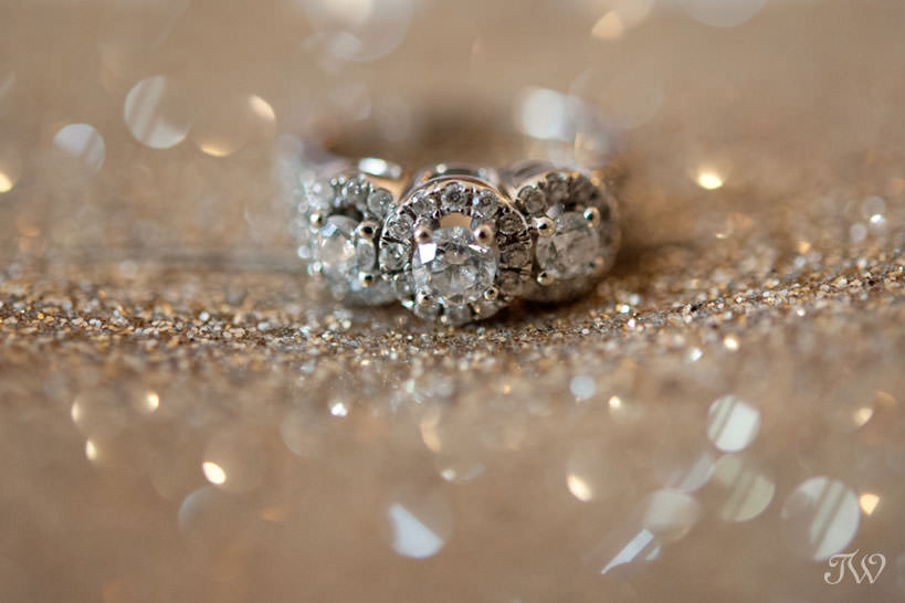 ring shot for a Lake House wedding captured by Calgary wedding photographer Tara Whittaker