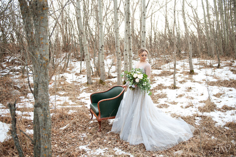 Winter Hayley Paige bride wearing Lumi gown captured by Tara Whittaker Photography