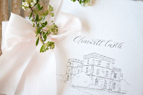 Wedding calligrapher adds a royal twist