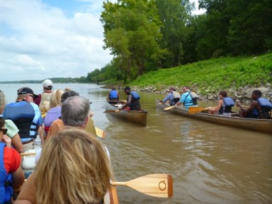Canoeing on the Mississippi River