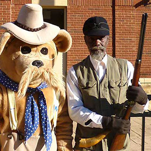 Holt Collier reenactor and the Theodore Roosevelt Teddy Bear