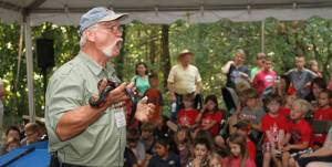 Terry Vandeventer & his Live Reptiles. Photo courtesy of Strawberry Plains Audubon Center