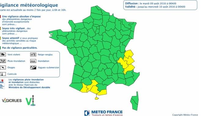 Haute Garonne Ariège Hautes Pyrénées alerte météo orages