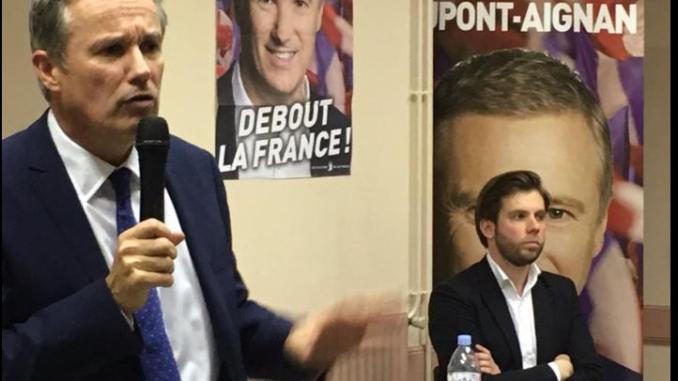 Nicolas Dupont Aignan était à Tarbes lundi soir