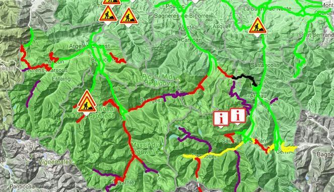 neige. comment s'informer sur l'état des routes dans la région