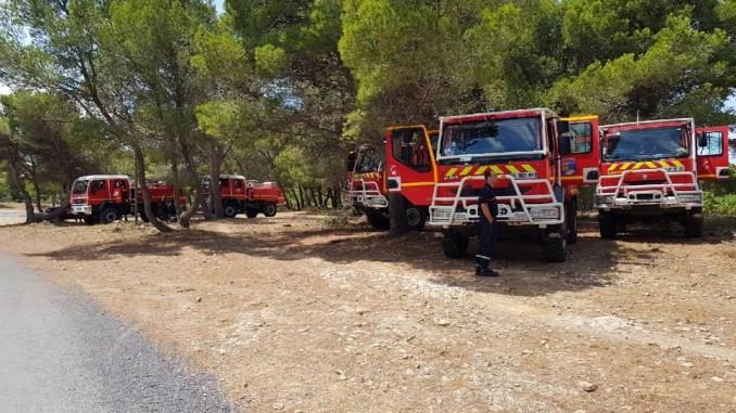 Les pompiers des Hautes Pyrénées affectés sur les incendies du Var