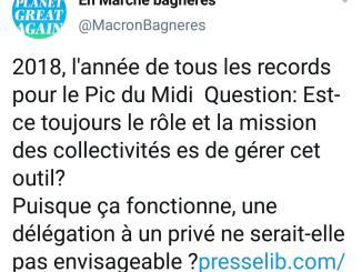 Ils suggèrent de privatiser la gestion du Pic du Midi