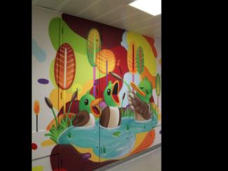 fresque hôpital Tarbes service pediatrique