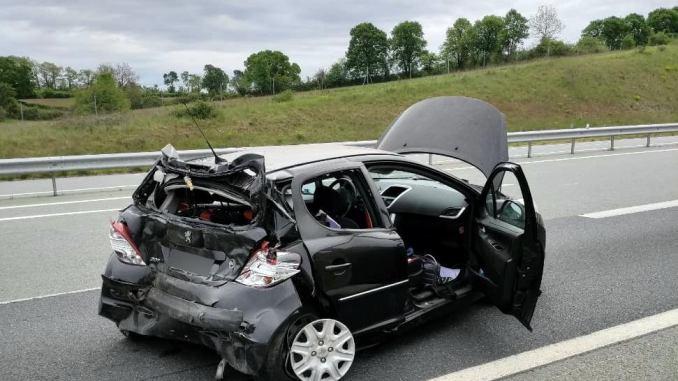 En région. un très violent accident de la route, mais pas de victime
