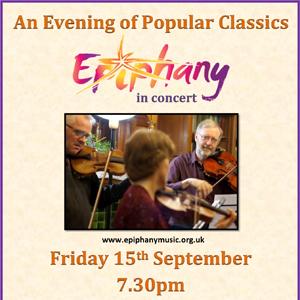 Epiphany music concert Friday 15 September 2017