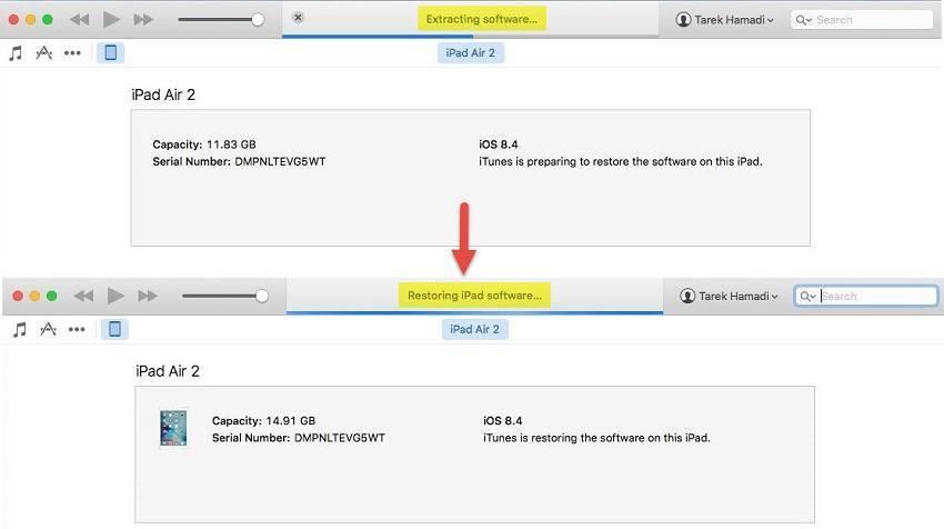 طريقة تثبيت أي إصدار iOS على الآيفون أو الآيباد باستخدام برنامج آي-تونز