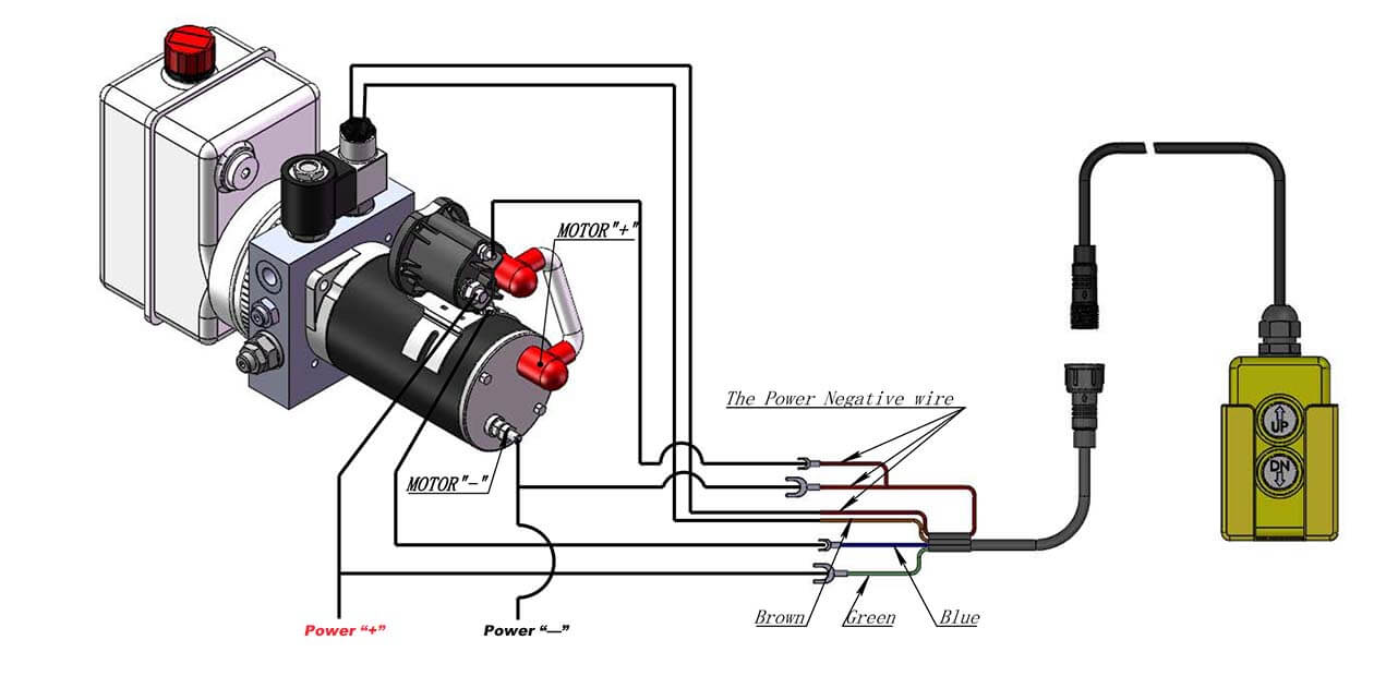 How to wire DC Hydraulic Power Pack Unit?resize=665%2C327 dyna jack m319 wiring diagram wiring diagram images dyna jack wiring diagram at gsmx.co