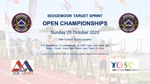 Sedgemoor Open Championships 25 October 2020