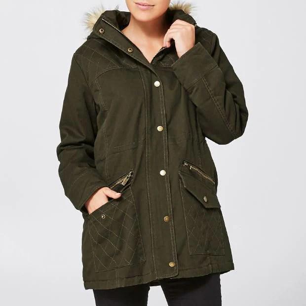 Khaki Hooded Coat