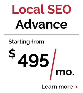 Local SEO Advance Pricing Package