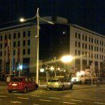 Nocny wypadek na remontowanym skrzyżowaniu