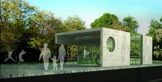 Wizualizacja stacji na skrzyżowaniu Ossowskiego z Pratulińską