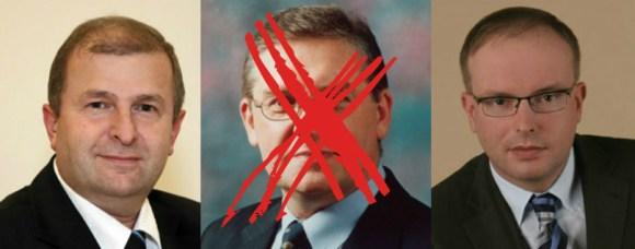 Sławomir Antonik, Grzegorz Zawistwoski, Tomasz Mencina /fot. UD Targówek, PO Ursynów