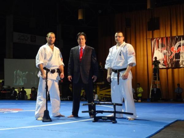 Łukasz Stankiewicz (z lewej) i Marcin Kozera na mistrzostwach świata w Denver / fot. Enshin Karate Polska