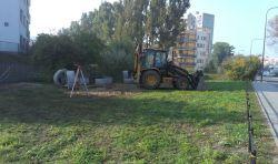 Początek budowy skweru z kurhanem / fot. targowek.info