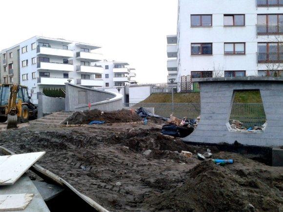 Budowa skweru przy ul. Malborskiej / fot. targowek.info