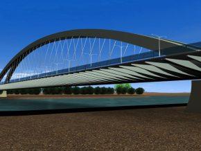 Most Krasińskiego miał mieć konstrukcję łukową / fot. materiały projektowe