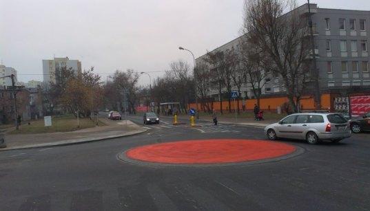 Rondo przy Gorzykowskiej/Myszkowskiej tuż po zbydowaniu w grudniu 2014 r. /fot. archiwum targowek.info